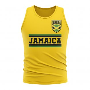Jamaica Core Football Country Sleeveless Tee (Yellow)