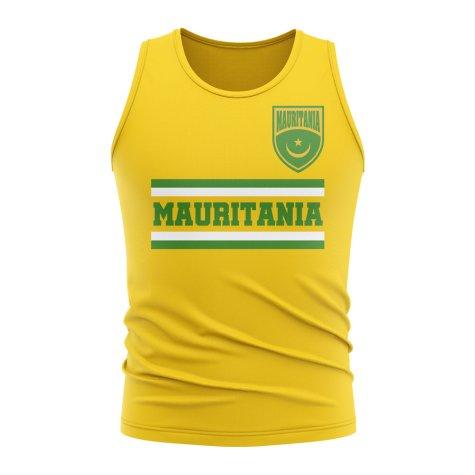 Mauritania Core Football Country Sleeveless Tee (Yellow)
