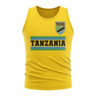 Tanzania Core Football Country Sleeveless Tee (Yellow)
