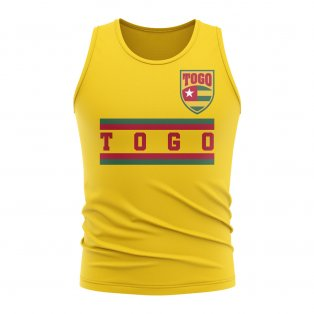 Togo Core Football Country Sleeveless Tee (Yellow)