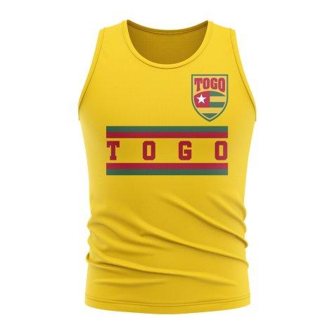 Togo Core Football Country Sleeveless Tee (Yellow)
