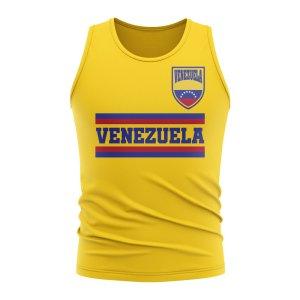 Venezuela Core Football Country Sleeveless Tee (Yellow)
