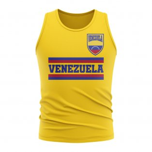 Venezuela Core Football Country Sleeveless Tee (Yellow)