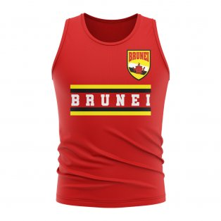 Brunei Core Football Country Sleeveless Tee (Red)
