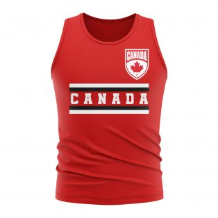 Canada Core Football Country Sleeveless Tee (Red)