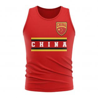 China Core Football Country Sleeveless Tee (Red)