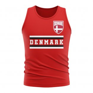 Denmark Core Football Country Sleeveless Tee (Red)