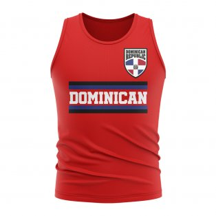 Dominican Republic Core Football Country Sleeveless Tee (Red)
