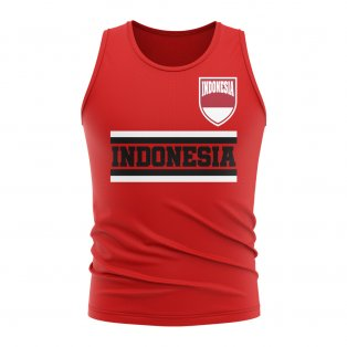 Indonesia Core Football Country Sleeveless Tee (Red)