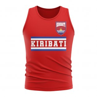 Kiribati Core Football Country Sleeveless Tee (Red)