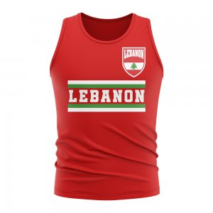 Lebanon Core Football Country Sleeveless Tee (Red)