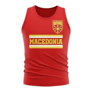 Macedonia Core Football Country Sleeveless Tee (Red)
