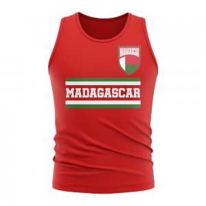 Madagascar Core Football Country Sleeveless Tee (Red)
