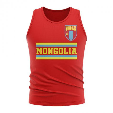 Mongolia Core Football Country Sleeveless Tee (Red)
