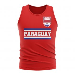 Paraguay Core Football Country Sleeveless Tee (Red)