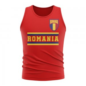 Romania Core Football Country Sleeveless Tee (Red)