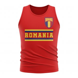 Romania Core Football Country Sleeveless Tee (Red)