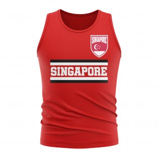 Singapore Core Football Country Sleeveless Tee (Red)