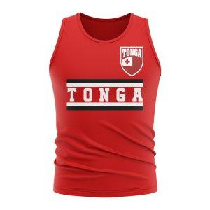 Tonga Core Football Country Sleeveless Tee (Red)