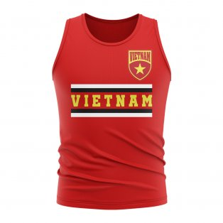 Vietnam Core Football Country Sleeveless Tee (Red)