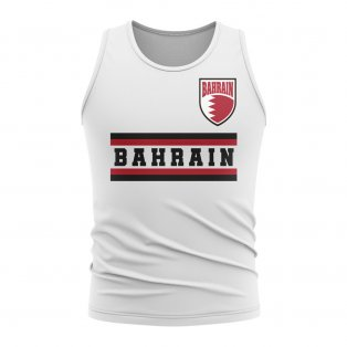 Bahrain Core Football Country Sleeveless Tee (White)