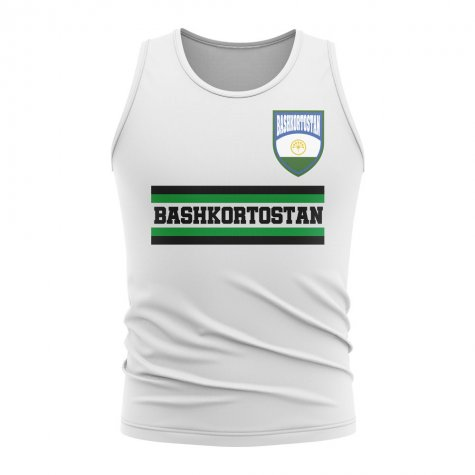 Bashkortostan Core Football Country Sleeveless Tee (White)
