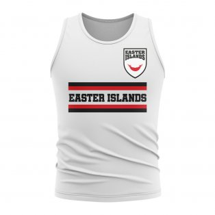 Easter Island Core Football Country Sleeveless Tee (White)