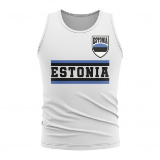 Estonia Core Football Country Sleeveless Tee (White)
