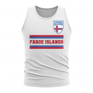 Faroe Islands Core Football Country Sleeveless Tee (White)