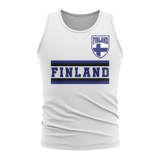 Finland Core Football Country Sleeveless Tee (White)