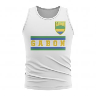 Gabon Core Football Country Sleeveless Tee (White)