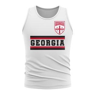 Georgia Core Football Country Sleeveless Tee (White)