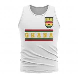 Ghana Core Football Country Sleeveless Tee (White)