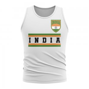 India Core Football Country Sleeveless Tee (White)