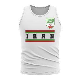 Iran Core Football Country Sleeveless Tee (White)
