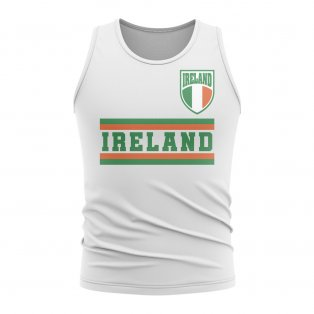 Ireland Core Football Country Sleeveless Tee (White)