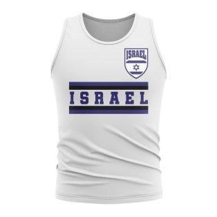 Israel Core Football Country Sleeveless Tee (White)