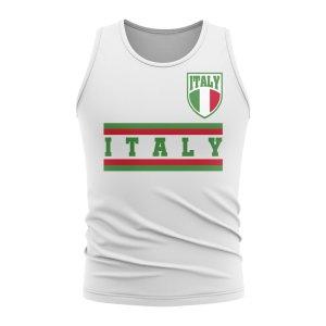 Italy Core Football Country Sleeveless Tee (White)