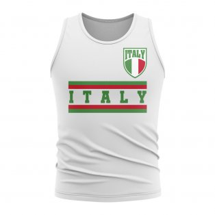 Italy Core Football Country Sleeveless Tee (White)