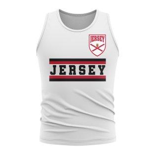 Jersey Core Football Country Sleeveless Tee (White)