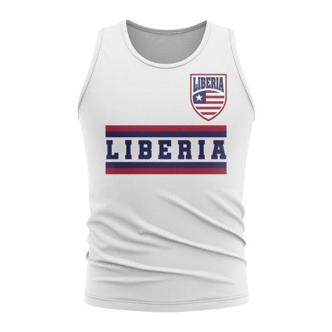 Liberia Core Football Country Sleeveless Tee (White)