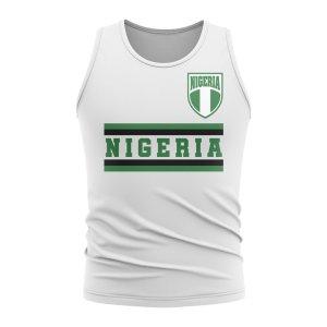 Nigeria Core Football Country Sleeveless Tee (White)