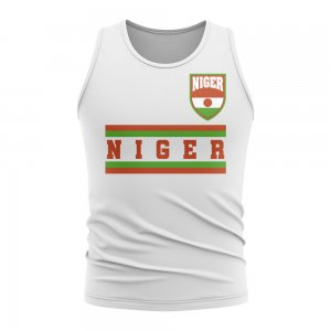 Niger Core Football Country Sleeveless Tee (White)