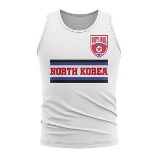 5504c217987 North Korea Core Football Country Sleeveless Tee (White)
