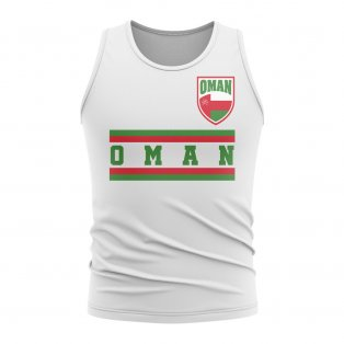 Oman Core Football Country Sleeveless Tee (White)