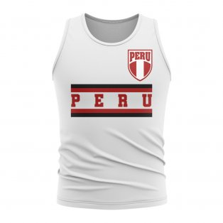 Peru Core Football Country Sleeveless Tee (White)