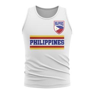 Philippines Core Football Country Sleeveless Tee (White)