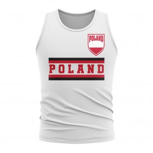 Poland Core Football Country Sleeveless Tee (White)