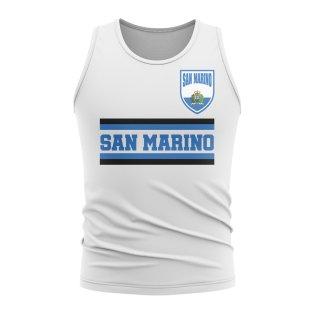 San Marino Core Football Country Sleeveless Tee (White)