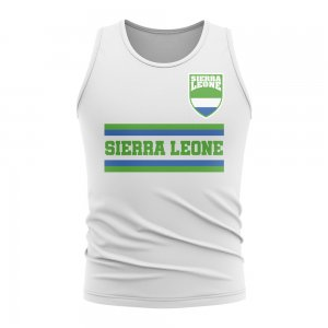 Sierra Leone Core Football Country Sleeveless Tee (White)